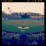 Here's a picture from our seats at the 8/14/13 game...not so shabby...