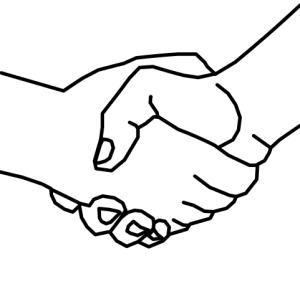 """Handshake1"" by User:Tommyv580 - . Licensed under CC BY-SA 3.0 via Wikimedia Commons."