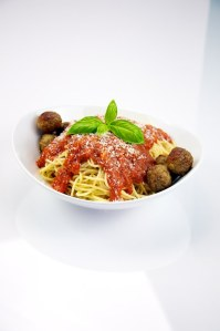 """""""Spaghetti with Meatballs 01 (5076300327)"""" by TheCulinaryGeek from Chicago, USA - Spaghetti with Meatballs 01Uploaded by the wub. Licensed under Creative Commons Attribution 2.0 via Wikimedia Commons - http://commons.wikimedia.org/wiki/File:Spaghetti_with_Meatballs_01_(5076300327).jpg#mediaviewer/File:Spaghetti_with_Meatballs_01_(5076300327).jpg"""