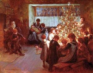Albert_Chevallier_Tayler_-_The_Christmas_Tree_1911
