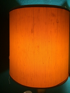 Lamp shade glow, enticing me to stay in the massage room a bit longer.