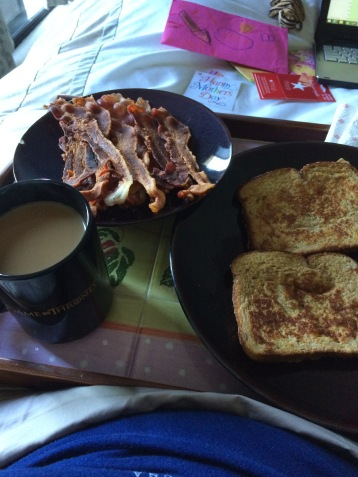 Bacon, French Toast and Coffee ...on a tray!