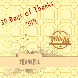 30 Days of Thanks 2015