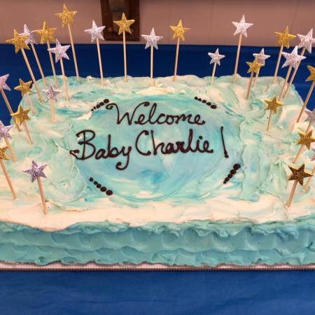 Charlie's baby shower cake from Sugarsmith AKA my sister!
